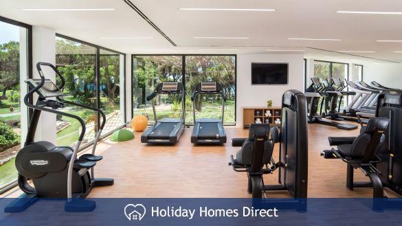 Pine cliff Terrace public gym in Portugal