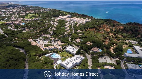Pine cliff Terrace Aerial view in Portugal