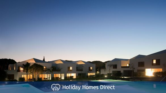 Pine Cliffs Townhouses nighttime in Portugal