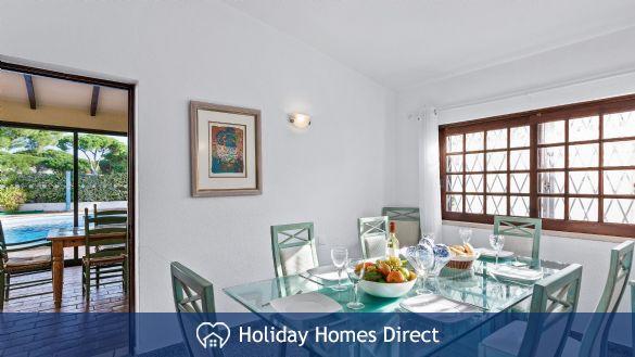Villa lynx indoor 6 chair dining table