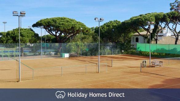 Tennis court in the pine cliffs resort in Portugal