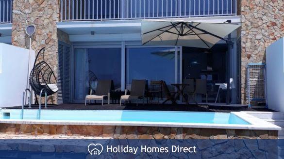 Villa Fatima private swimming pool and chairs