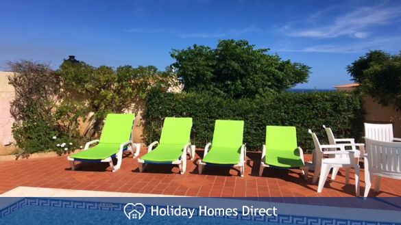 Sun Loungers by the private pool
