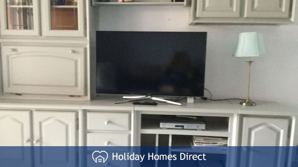 Smart t.v. with DVD player. Books and magazines.