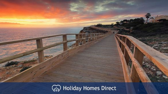 Boardwalks along the rocky coast