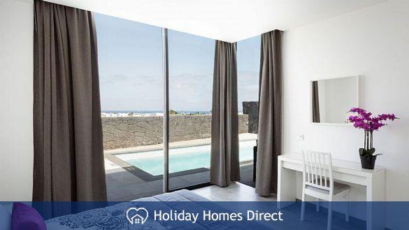 Bedroom view in Casa Bernadette in Lanzarote