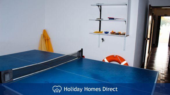 Villa Jasmin table tennis on the Algarve