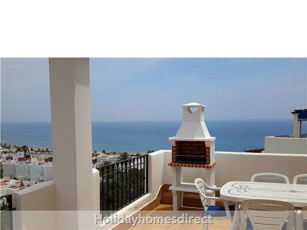 Stunning Sea-views Luxury Apartment.  Spanish Tourism Registered.  Free Wifi.  5 Minutes  Walk  Playa And Beaches, Uk Tv.: view from 2nd bedroom terrace