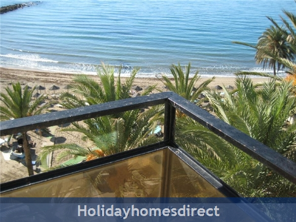 Marbella - Luxurious Front Row Skol Private Apartment, With Stunning Sea-views From 2 Huge Terraces.  Registered With Spanish Tourism: Central Marbella Apartment, stunning seaviews from 2 huge terraces