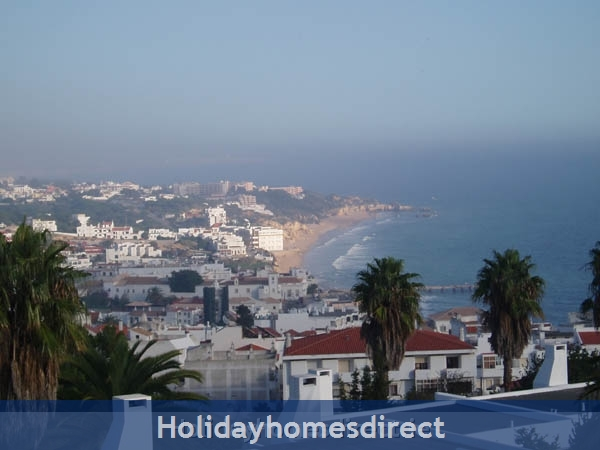 Windmill Hill, Albufeira, Algarve, Portugal: View from terrace over oldtown and beach