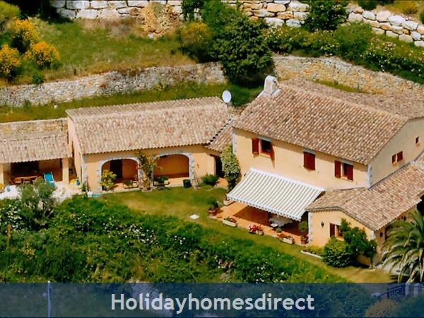Mas St. Joseph, Provence Villa Rental: IAerial view