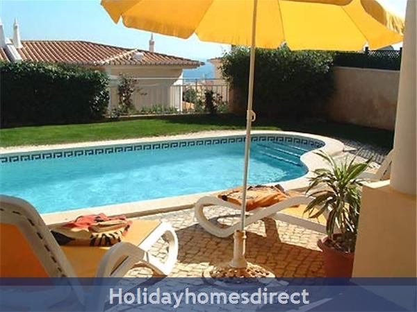 Villa Miranda. Praia Da Luz .. 2 Bedrooms, Full Air-con, Private Pool, Fantastic Sea Views !: Relax by the private pool!