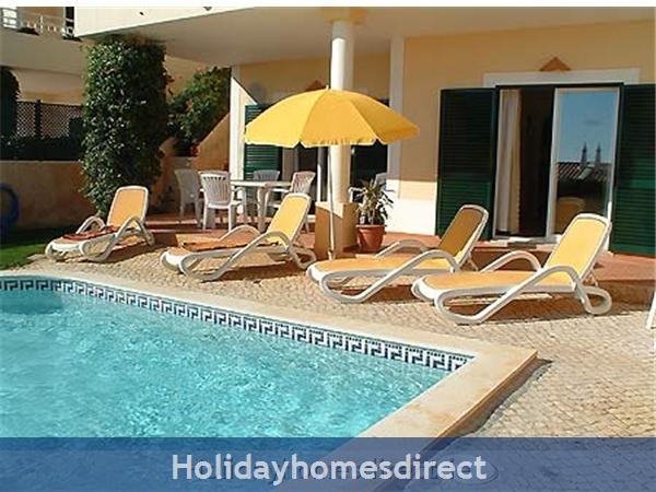 Villa Miranda. Praia Da Luz .. 2 Bedrooms, Full Air-con, Private Pool, Fantastic Sea Views !: Chill out by the villa's private pool