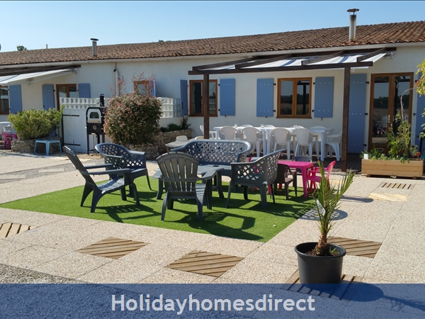 Logis, Gite Holiday Rental: Terrace