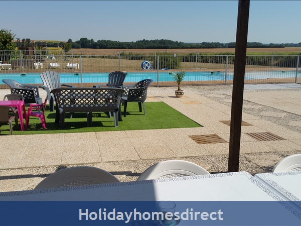 Logis, Gite Holiday Rental: View from Logis terrace