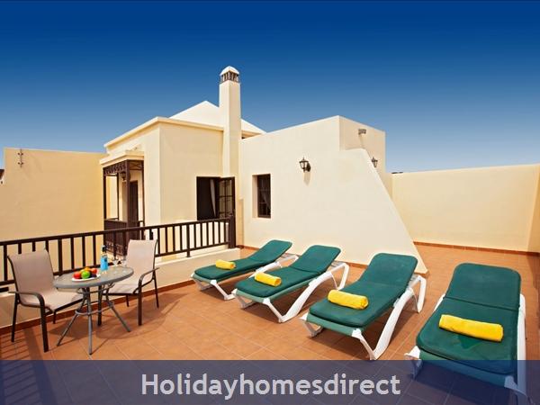 Villa Eileen, 4 Bed Villa In Lanzarote With Private Pool Sleeps 10: Sun Terrace Off master Bedroom