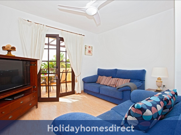 Villa Eileen, 4 Bed Villa In Lanzarote With Private Pool Sleeps 10: TV Room Off Master Bedroom