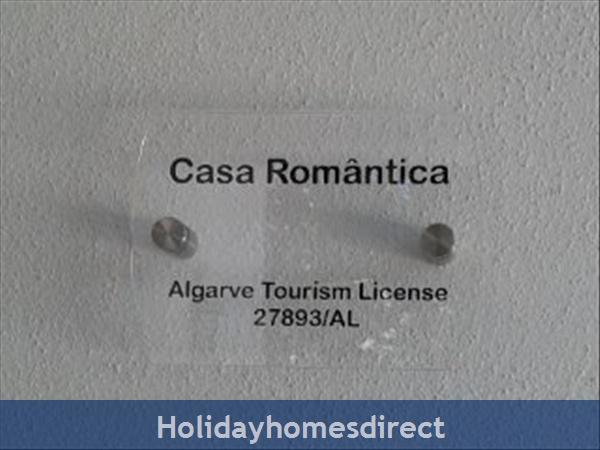 Casa Romantica Tourism License