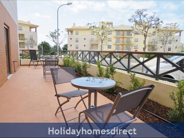 Parque Da Corcovada Ground Floor,luxury 2 Bedroom Poolside Apartment, Algarve: Front Terrace