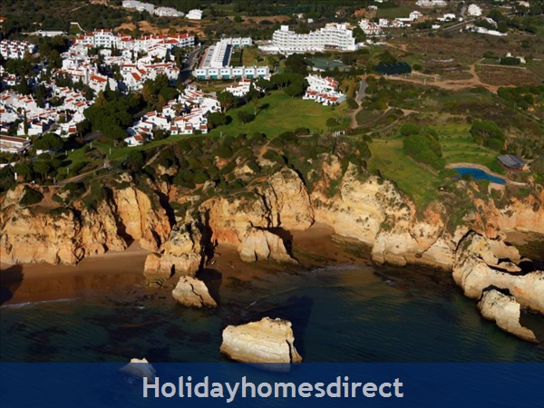 Aerial view of Prainha on the Algarve in Portugal