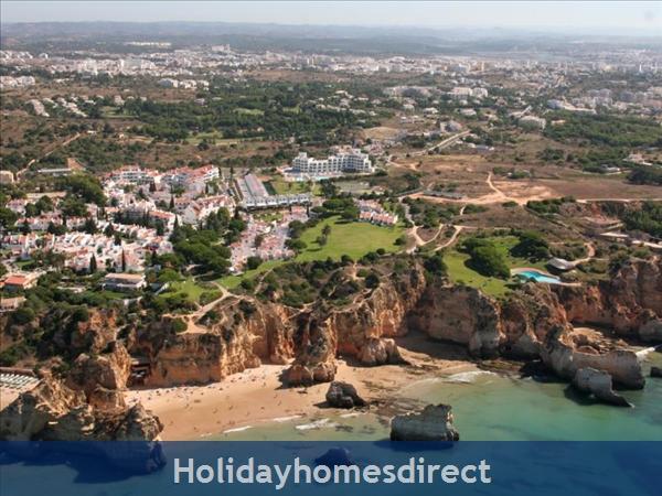 Aerial view of  Prainha Beach in Portugal