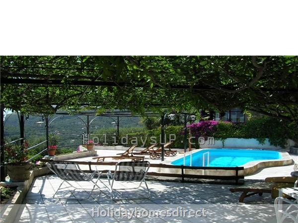 Terrace outside relax villa sant'agata due golfi