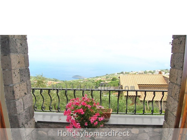 Amazing Villa Esp With Private Pool And Ocean View In Amalfi Coast: French balcony view from double bedroom villa esp