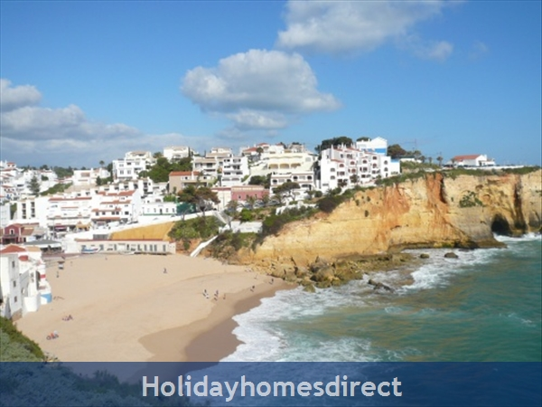 Apartment Aurora Mar, Carvoeiro, Algarve, Portugal: 500m from carvoeiro beach