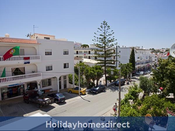 Apartment Aurora Mar, Carvoeiro, Algarve, Portugal: estrada do farol, view from the balcony