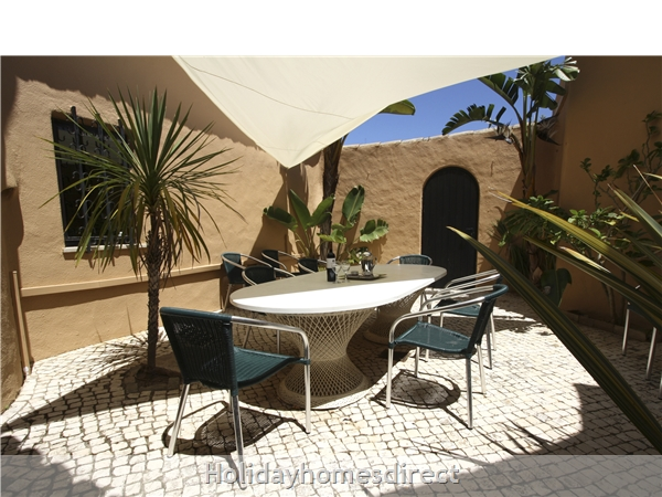 Villa Bibi.. Detached Private Villa With Large Pool And Lots Of Space.: Lovely sheltered patio for al fresco dining