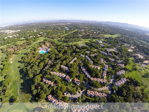 Aerial view in Vilar do Golf in Portugal