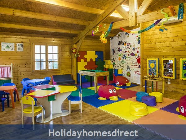 indoor playroom  in Vilar do Golf in Portugal