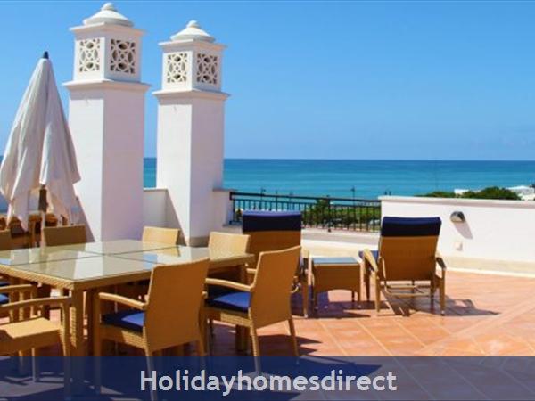 Beach club terrace in the Algarve Portugal