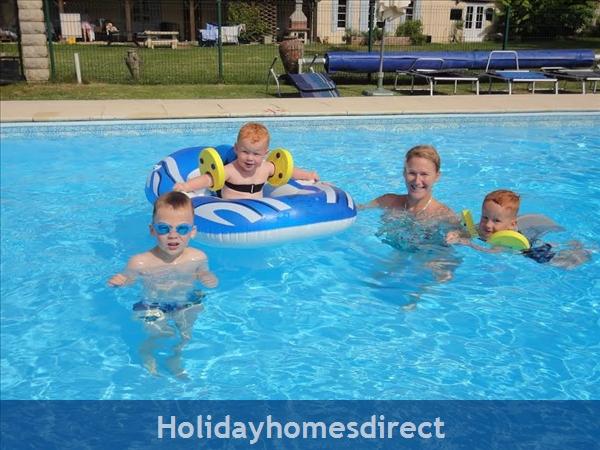 Les Chenes 1 - Bel Air Gites: Heated pool