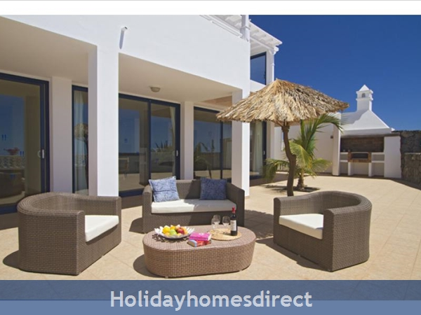 Villa Vellamos With Private Pool, Puerto Calero, Lanzarote: Terrace