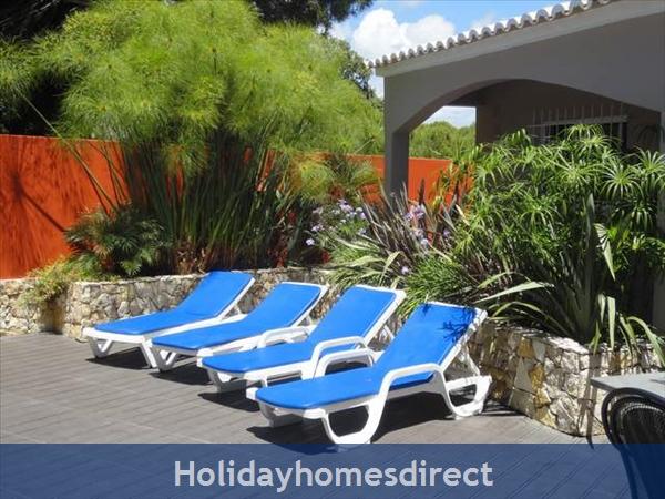 Villa Rosa Vilamoura Vila Sol Private Villa With Pool: Sunbeds