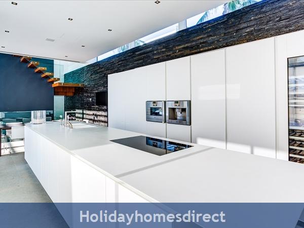 Villa Bond indoor kitchen area and staircase