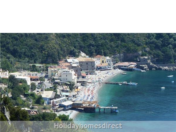Marina del Cantone natural beaches bay (Nerano)