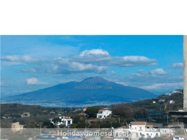 Villa Dimora Emilia - Historic '700  Apartments In Amalfi Coast: Vesuvius mount view from top terrace shared