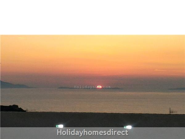 Villa Dimora Emilia - Historic '700  Apartments In Amalfi Coast: Sunset from shared roof terrace dimora emilia