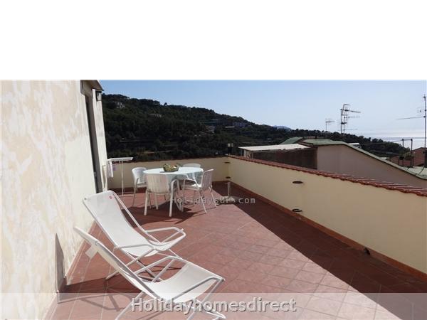 Private terrace at apartment one Villa Dim Emilia