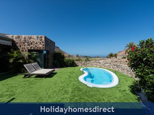 Villa Carmela, Anfi Tauro Zafiro, 3 Bedroom Villa, Private Garden, Heated Pool And Jacuzzi: Pool area