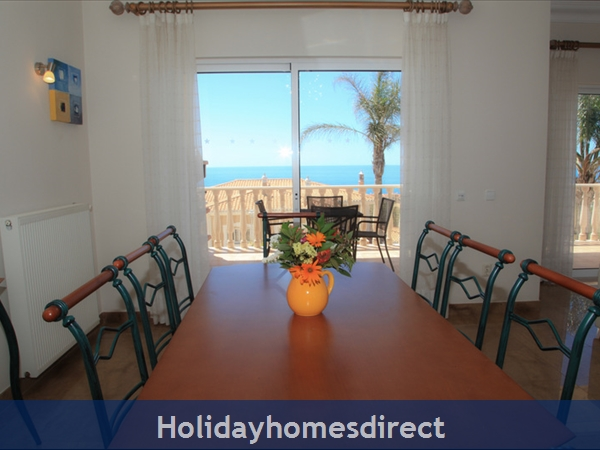 Casa G. With Sea Views, Private Pool And Gated Community.: Lovely Sea Views from the Dining Table