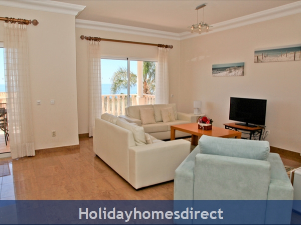 Casa G. With Sea Views, Private Pool And Gated Community.: Lounge has comfortable seating and Sea Views