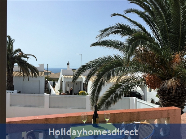 Quinta Bela Vista Casa 28. Praia Da Luz. Detached Villa With Three Bedrooms And Private Pool.: The lounge veranda has a sea view