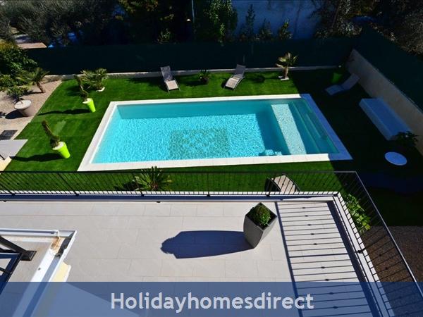 Villa Oceane, 4 Bedroom Villa With Private Pool: Pool view from 1st floor master bedroom