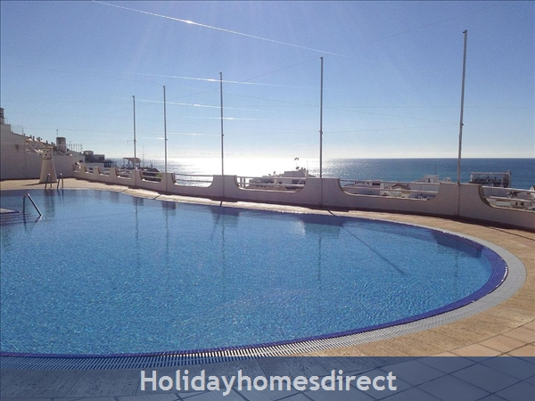 Apartment in Albufeira Duplex Apartment With Sea Views, pool, garage, 2 Mins From Beach.