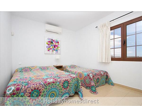 Villa Celeste double bedroom in Lanzarote