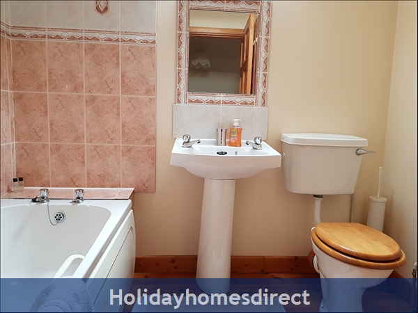 Doyle's Cottage ..  Between Waterford, Wexford And Kilkenny.. With Lots To See And Do !: Family Bathroom has shower, bath, toilet