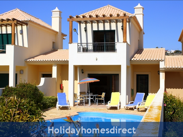 Domusiberica Villa 3. Burgau.  With 3 Bedrooms.. Private Pool, Sea View And Walk To The Beach.: Villa 3 .. behind the palm tree !